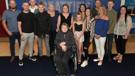 Kevin Beattie's family at the opening of the new bar in honour of Kevin Picture: SARAH LUCY BROWN