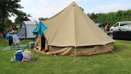 One of the 5 metre bell tents at Rushbanks farm Picture: CHARLOTTE BOND