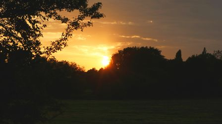 A sunset view across the fields, whilst on a walk near Rushbanks Farm campsite Picture: CHARLOTTE B