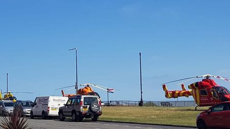 A 14-year-old has died after being pulled from the sea at Clacton Picture: DANIEL KINGHAM