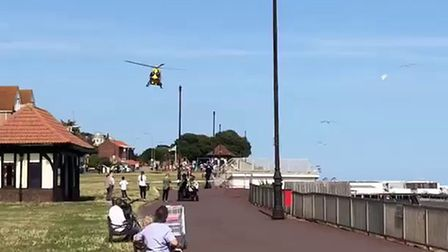 Clacton incident. PICTURE: JAKE FOXFORD