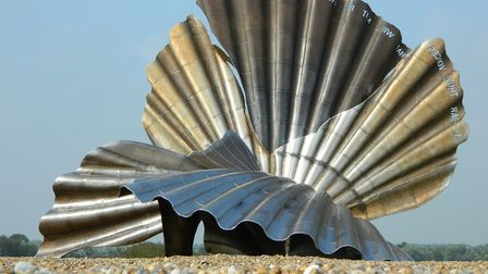 Scallop. Maggi Hamblings sculptural tribute to Benjamin Britten is effectively seaside Marmite Pic