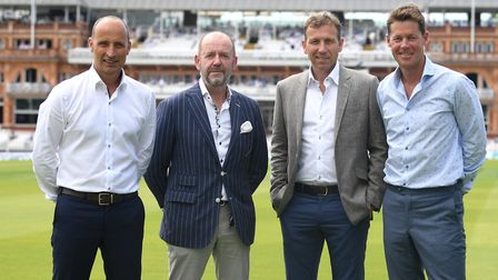 Nasser Hussain OBE, John Deane-Bowers of Trotter and Deane, Mike Atherton OBE and Nick Knight Pictu