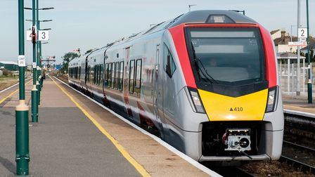The first new Stadler Flirt train has entered service on the line between Lowestoft and Norwich - bu