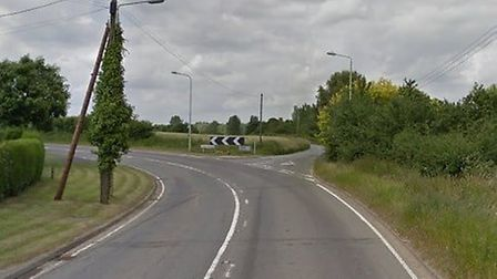 Suffolk police and the ambulance service were sent to the scene of the crash near Borley Green, outs