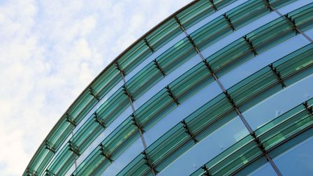 Curved glass building with brise soleil Picture: Getty Images
