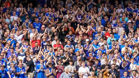 Town fans, in great voice on Saturday. Picture: STEVE WALLER WWW.STEPHENWALLER.COM