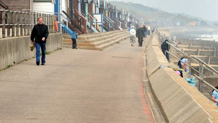12 beach huts on the seafront were destroyed Picture: ANDREW PARTRIDGE