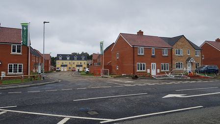 Persimmon Homes' development in Framlingham, pictured during construction Picture: RACHEL EDGE