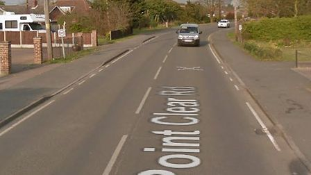 Point Clear Road in St Osyth is completely closed after a serious crash Picture: GOOGLE MAPS