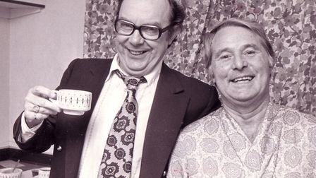 Eric Morecambe and Ernie Wise, at the Theatre Royal in Norwich in 1976 Picture: ARCHANT