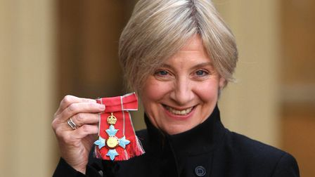 Victoria Wood with CBE in 2008 Picture: Steve Parsons/PA