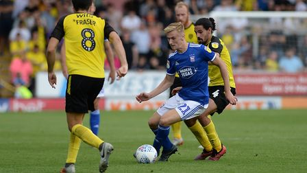 Flynn Downes was the stand-out performer at Burton Albion. Picture Pagepix