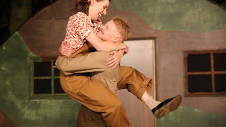 Fizz Waller and Ricky Oakley in Red Rose Chain's Much Ado About Nothing Picture: DAVID NEWBORN