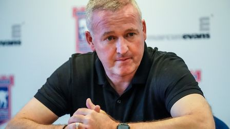 Ipswich Town manager Paul Lambert cut a frustrated figure after Saturday's draw. Photo: STEVE WALLER