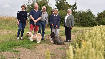 Some of the campaigners who formed the Save Our Suffolk Countryside in opposition to the expansion o
