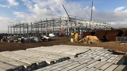 The new chicken factory which is being built near Eye Picture: CRANSWICK
