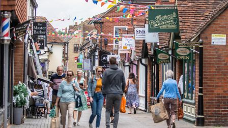 Eld Lane/Sir Isaac's Walk in Colchester, which has been shortlisted in the Rising Star category of t