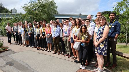 Foundation trainee doctors at the West Suffolk NHS Foundation Trust, alongside medical education sta