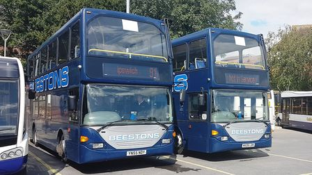 Beeston's are re-timing their buses between Sudbury and Ipswich, Picture: PAUL GEATER