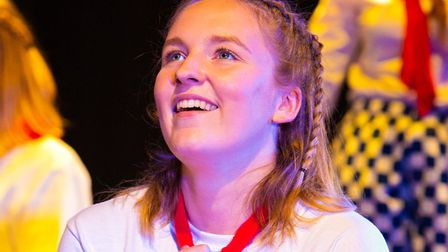Isabelle Cory, who has a passion for drama at Woodbridge School, is celebrating two A*s and an A at