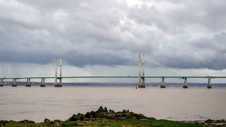 The Severn Bridge, which Mike Bacon's garden fence is not! Photo: PA