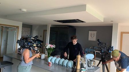 Saxmundham's 4 Fun Play Centre owner Layden Seymour's family is being filmed at their Aldeburgh home