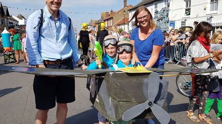 Families dressing up for the Aldeburgh Carnival Picture: RACHEL EDGE