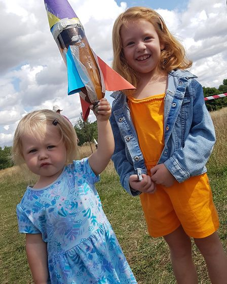Children across Suffolk took part in the air and water rocket sessions at Needham Lakes. Picture: RA