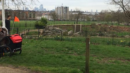 The view of the London Skyline from near the finish of the Finsbury parkrun. Picture: CARL MARSTON