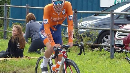 Beccles rider Zac Herrod takes the win in the Mid-Suffolk Road Race. Picture: FERGUS MUIR