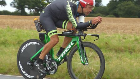 Paul Vickers was the fastest of the West Suffolk Wheelers team who set a new club team record at the