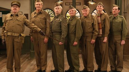 The new line-up for the Dad's Army remake which is being broadcast on Gold and will bring to life th