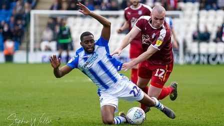 Kane Vincent-Young in action against Tranmere. Photo: Steve Waller