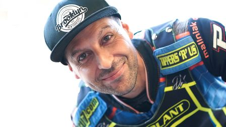 Nico Covatti, back in a Witches race jacket as a guest in the Swindon meeting. Picture: Steve Wal