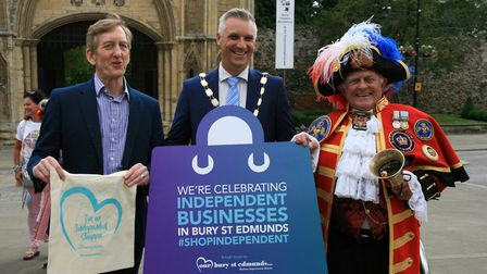Mayor of Bury St Edmunds Peter Thompson Picture: MARK LANGFORD