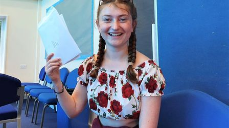 Year 11 pupil Sukey Bathgate excelled in her GCSE exams and was delighted with her results. Picture: