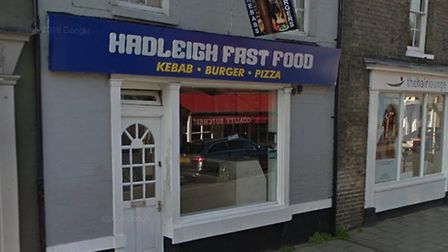 The brawl happened at Hadleigh Fast Food in the town's High Street Picture: GOOGLE MAPS