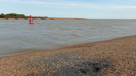 A septic tank on the beach at Felixstowe Ferry is leaking and causing a bad smell Picture: SARAH LU