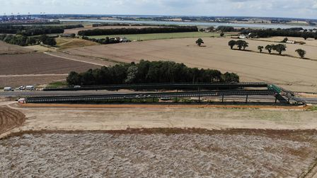 Network Rail has completed the new bridleway bridge over the Felixstowe branch line at Trimley. Pict
