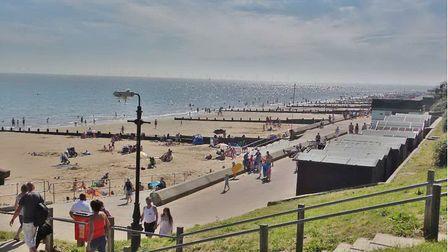 Emergency services were called to the beach in Frinton after beachgoers reported coughing and gaspin