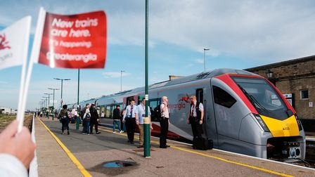 The first new Stadler Flirt train has entered service on the line between Lowestoft and Norwich. Pic