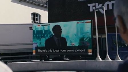 An advan with a video of Matt Hancock's speech was sent to Newmarket in his constituency. Picture: L