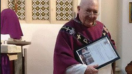 Father Francis Leeder of St Pancras church in Ipswich, who is retiring aged 80 Picture: ST PANCRAS C