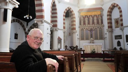 Father Francis Leeder of St Pancras Church, Ipswich celebrating 50 years as a priest in 2013 Picture