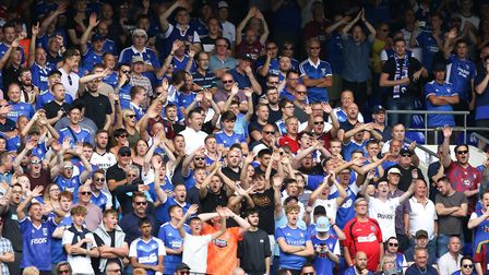 Ipswich Town fans were singing 'top of the league at Portman Road' during the win over Shrewsbury. P