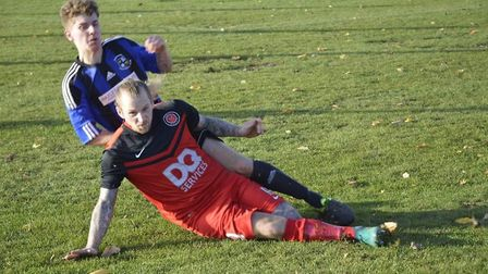 Clark Bruce and Henley Athletic won 2-0 at Leiston St Margarets. Picture: HENLEY ATHLETIC