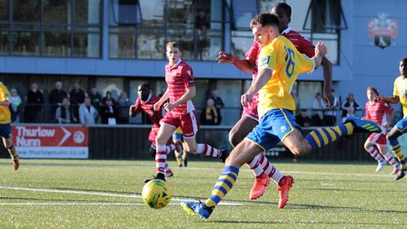 Tom Maycock, who bagged an injury-time winner for AFC Sudbury against Romford in the Isthmian League