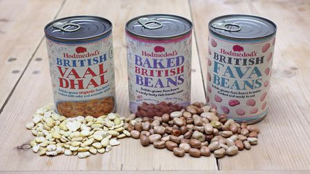 Hodmedod's three cans of fava beans Picture: HODMEDOD