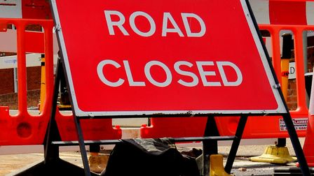 The A14 is closed in both directions at Barrow Picture: SIMON PARKER